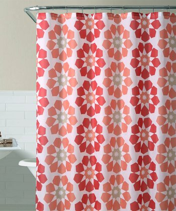 Red Pandora Shower Curtain