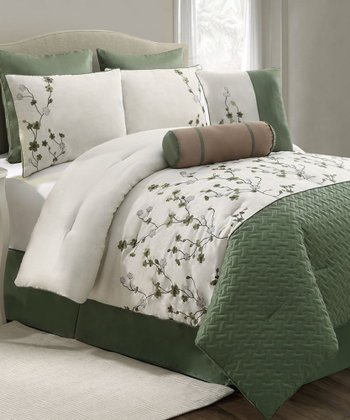 Green Sadie Comforter Set