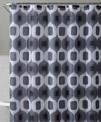 Black & White Tiberius Shower Curtain Set