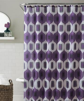 Plum & Taupe Tiberius Shower Curtain Set