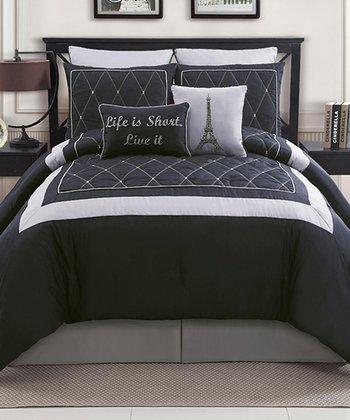 Black Versailles Comforter Set
