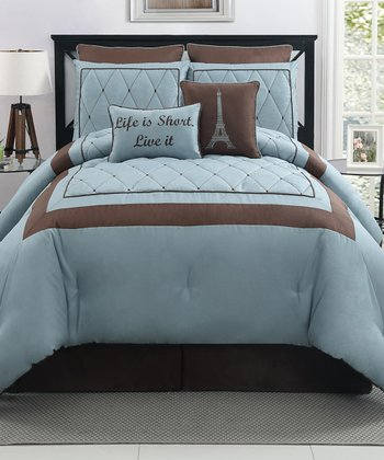 Blue Versailles Comforter Set