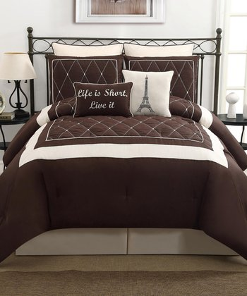 Brown Versailles Comforter Set