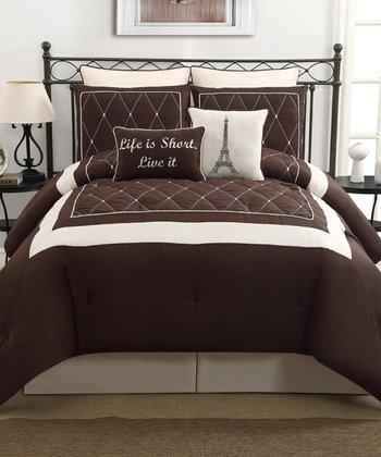 Brown Versailles Comforter Set