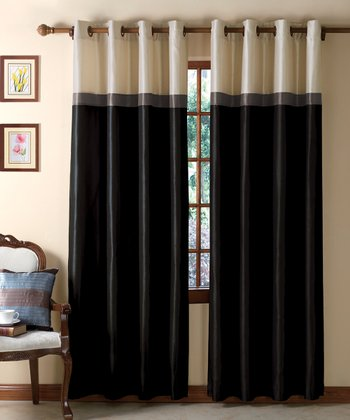 Black & Taupe Westin Curtain Panel