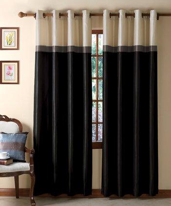 Black & Taupe Westin Curtain Panel
