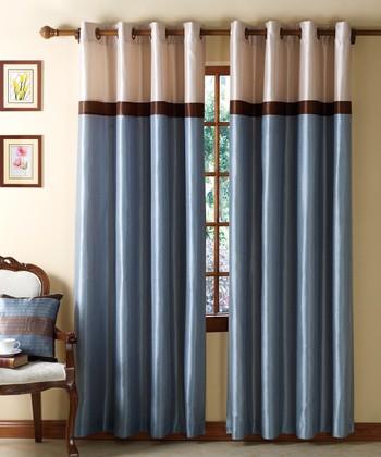 Blue & Chocolate Westin Curtain Panel