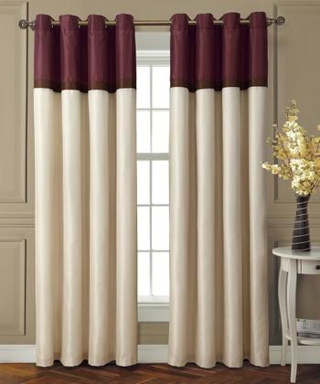 Red & Chocolate Westin Curtain Panel