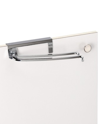 Chrome Cabinet Door Pivoting Towel Bar