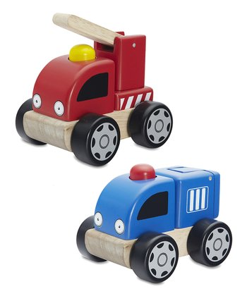 Baby Fire Truck & Baby Police Car Set