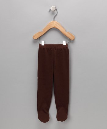 Brown Organic Footie Pants