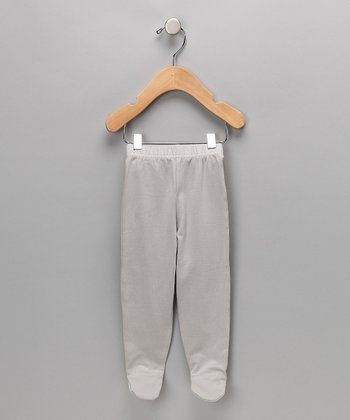 Gray Organic Footie Pants - Infant & Toddler