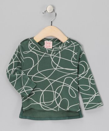 Green Scribble Organic Tee - Infant
