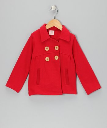 Red Mod Jacket - Toddler & Girls