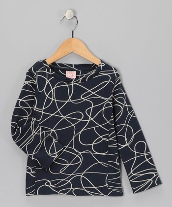 Navy Scribble Organic Tee - Boys