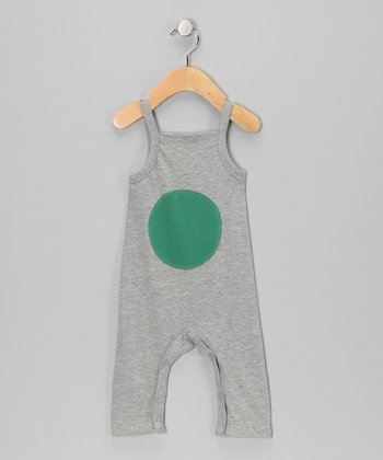 Gray Mélange Circle Organic Playsuit - Infant