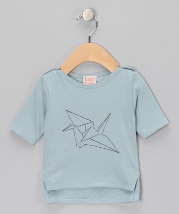 Pale Blue Crane Organic Tee - Infant