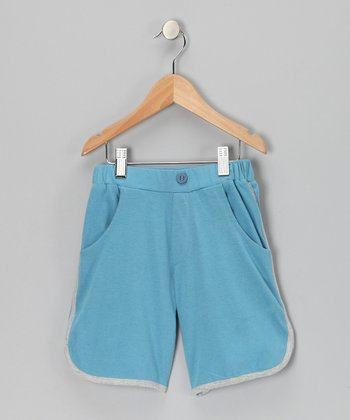 Blue Pocket Organic Shorts - Toddler & Boys