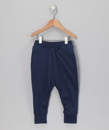 Navy Organic Sweatpants - Kids
