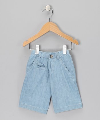 Light Wash Shorts - Toddler & Boys
