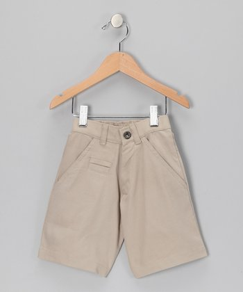 Warm Sand Canvas Shorts - Toddler & Boys