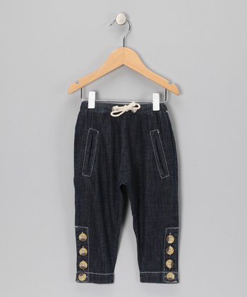 Midnight Wash Cropped Harem Jeans - Toddler & Boys
