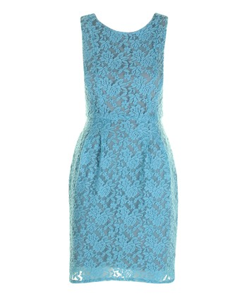 Sky Blue Lace Claudia Dress