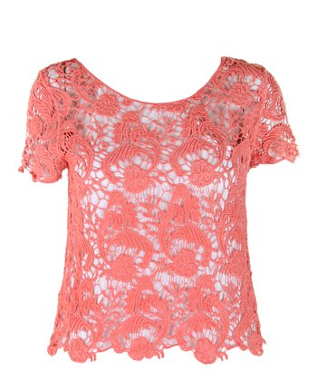 Coral Lace Anabel Top