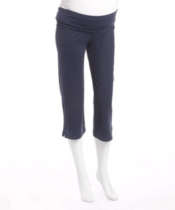Night Under-Belly Maternity Capri Pants - Women