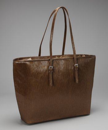 Bronze Saffiano Laptop Tote