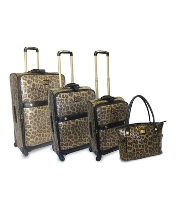 Leopard Four-Piece Luggage Set