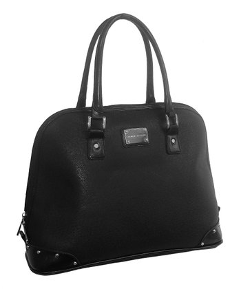 Black Saffiano Laptop Tote