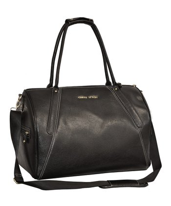 Black Pebble-Grain Duffel
