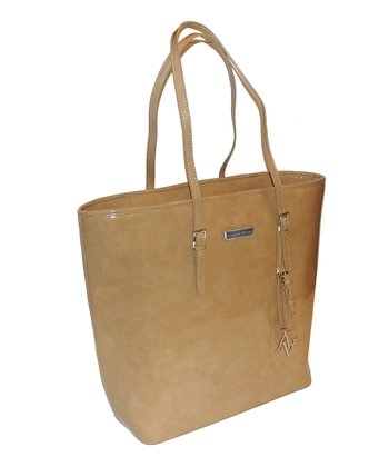 Beige Tapered Laptop Shopper