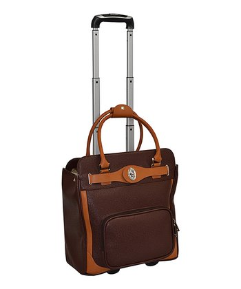 Brown Saffiano Laptop Weekender