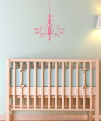 Pink Chandelier Wall Decal