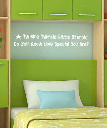 White 'Twinkle, Twinkle' Wall Decal
