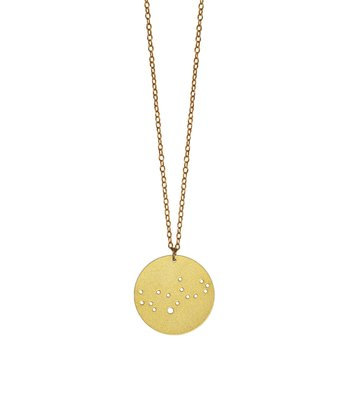 Gold Virgo Pendant Necklace