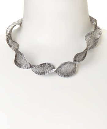 Titanium Metal Ribbon Necklace