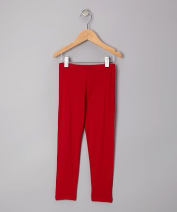 Red Leggings - Toddler & Girls