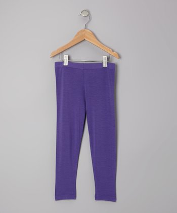 Purple Leggings - Toddler & Girls