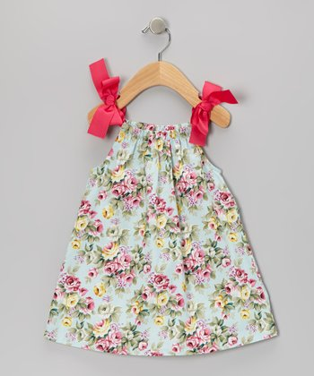 Blue Floral Swing Dress - Infant & Toddler