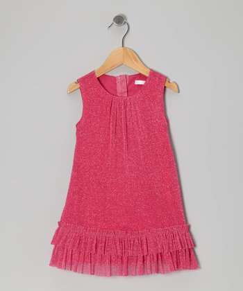 Hot Pink Sparkle Swing Dress - Infant, Toddler & Girls