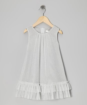 Silver Sparkle Swing Dress - Infant, Toddler & Girls