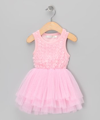 Pink Rosette Tutu Dress - Infant, Toddler & Girls