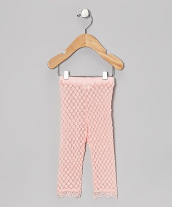Pink Lace Leggings - Infant