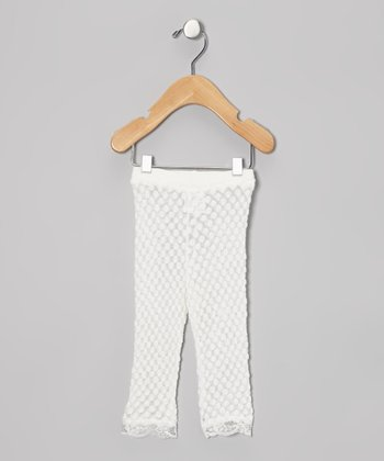 White Lace Leggings - Infant & Toddler