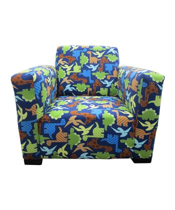 Blue Dinosaur Jayden Club Chair