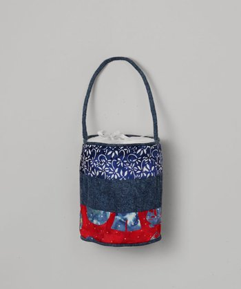 Blue Tiered Bucket Purse