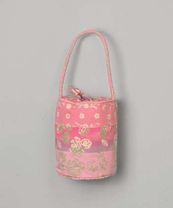 Pink Tiered Bucket Purse
